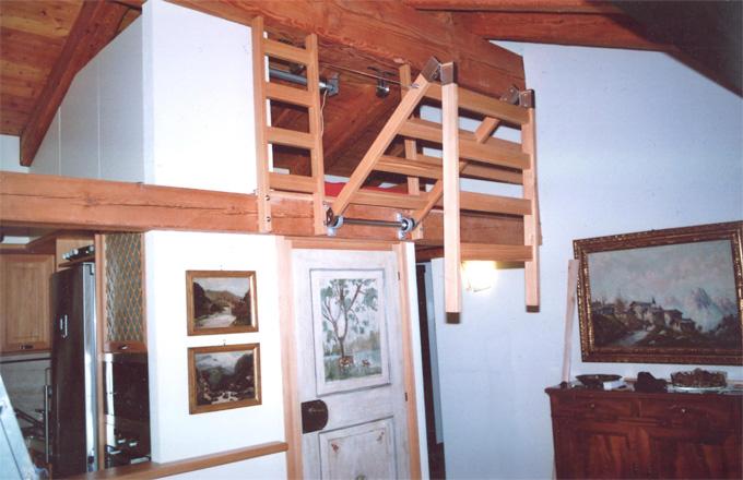 Scaletta In Legno Per Soppalco : Scala retrattile in legno